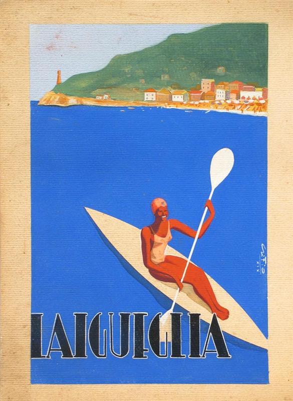 Eccezionale Mostra d'arte Gino Fiore Alassio VJ36